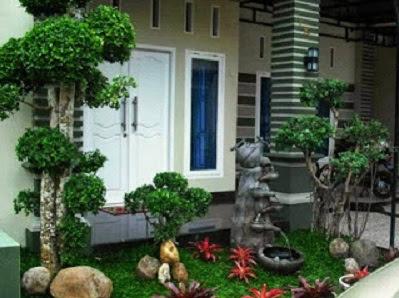 Gambar desain  taman depan rumah minimalis untuk lahan sempit