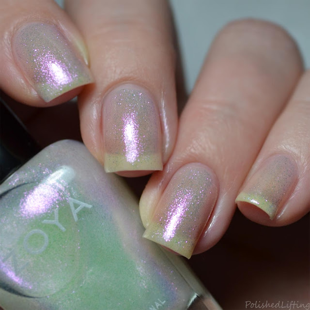 opalescent nail polish topper