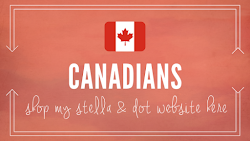 CANADIANS: SHOP HERE