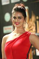 Meenakshi Dixit in Red One Shoulder Red Zipped up gown at IIFA Utsavam Award 48.JPG
