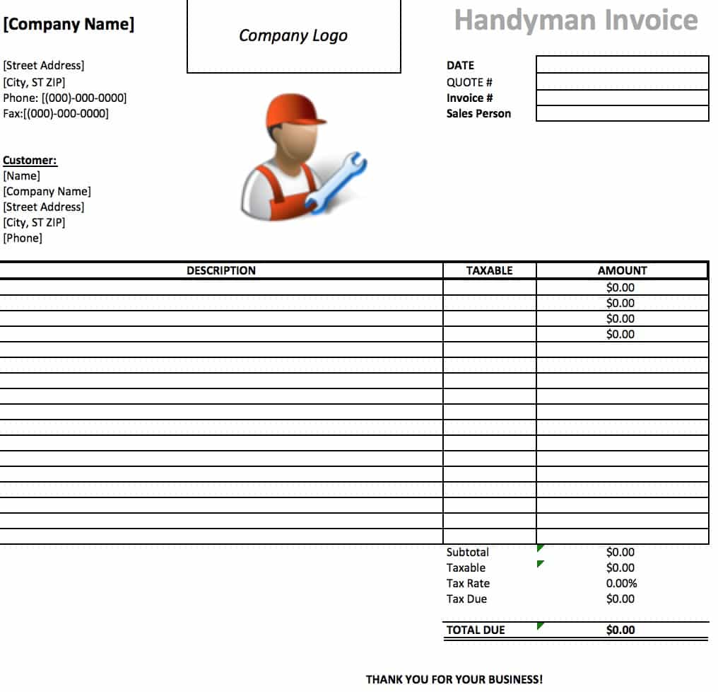 Printable Quotation Template in Excel and Doc Excel Template
