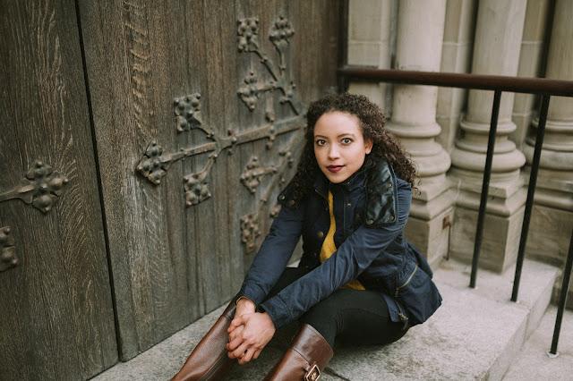 Girl in Burberry Coat
