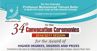 BUK 34th Convocation Ceremony