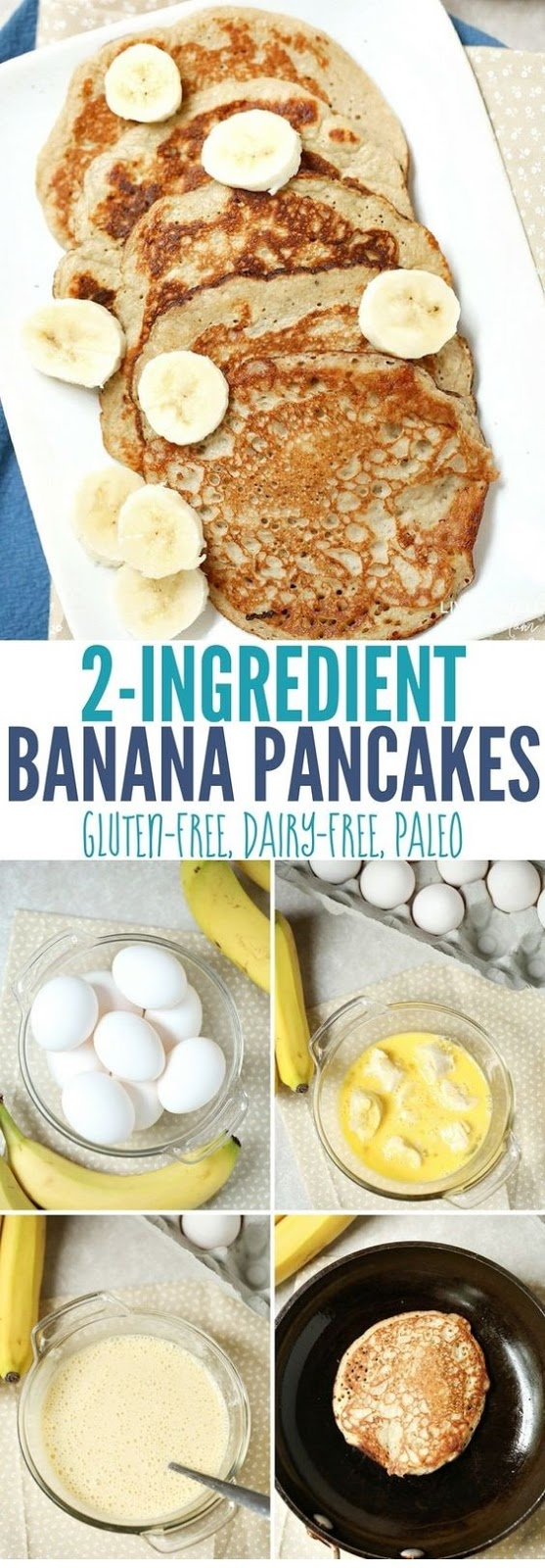 2-Ingredient Banana Pancakes