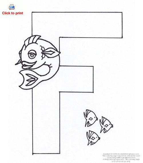 f letter coloring pages - photo #14