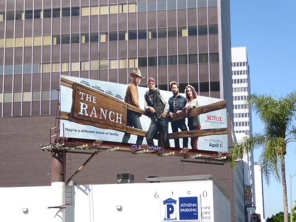 The Ranch series premiere billboard