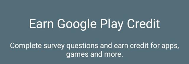 Earn credits, Google opinion rewards