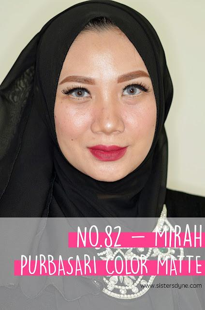 purbasari lipstick color matte 82 mirah