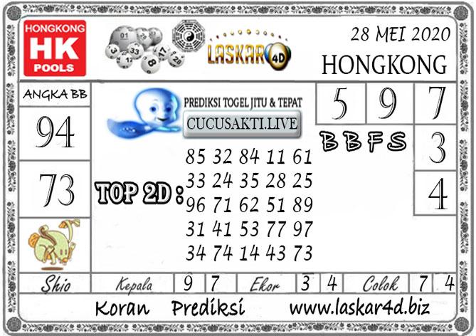 Prediksi Togel HONGKONG LASKAR4D 28 MEI 2020