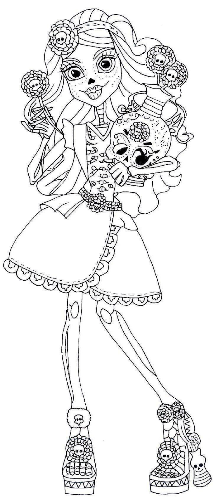 Free Printable Monster High Coloring Pages: Free Printable