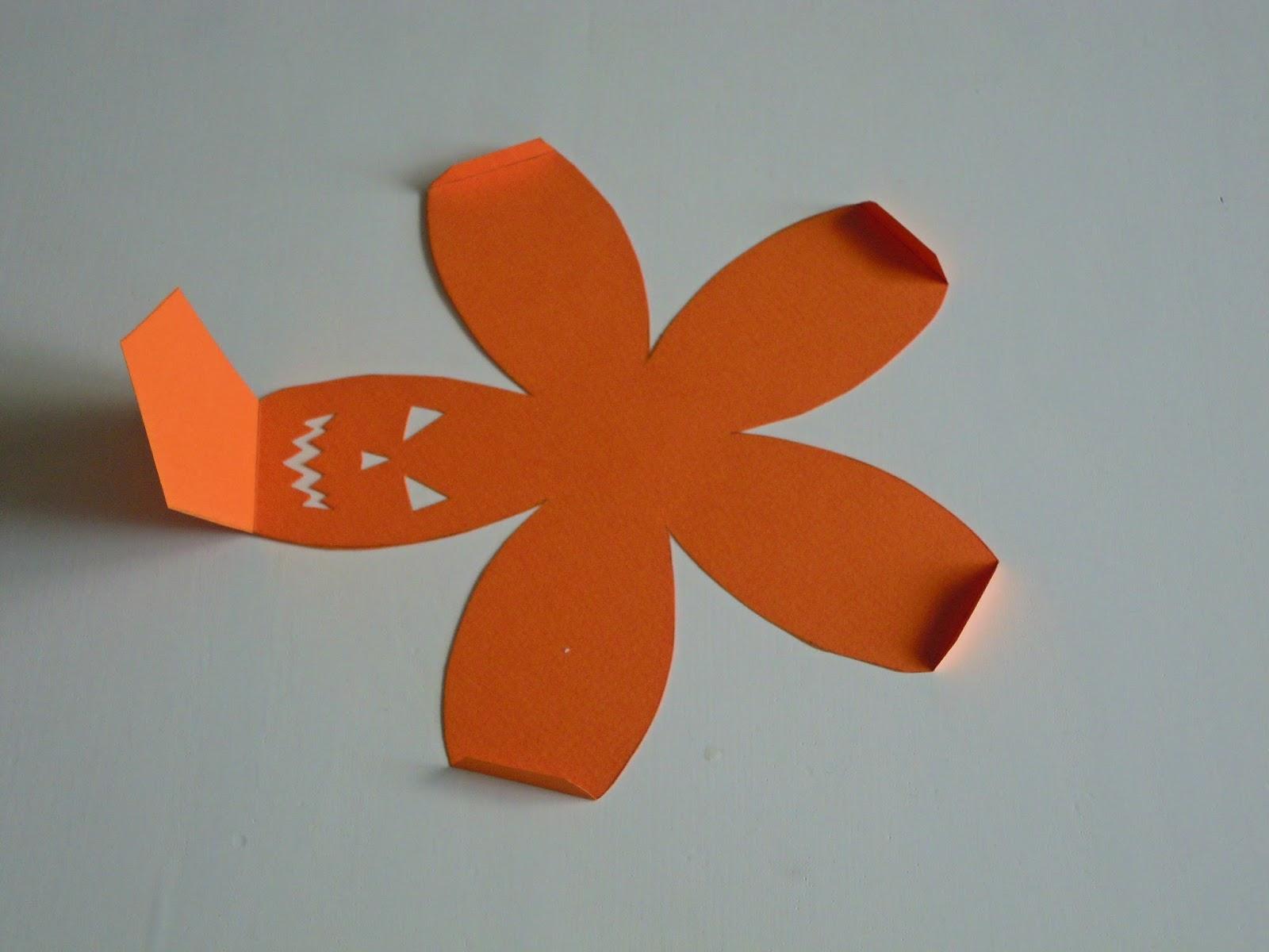 La planque libellules challenge halloween une citrouille en papier d i y - Citrouille halloween en papier ...