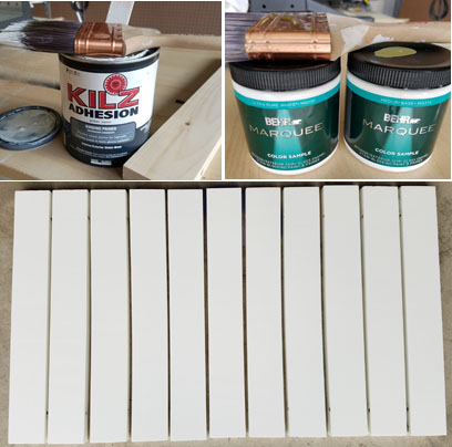 Behr Marquee and Kilz for painting door mat