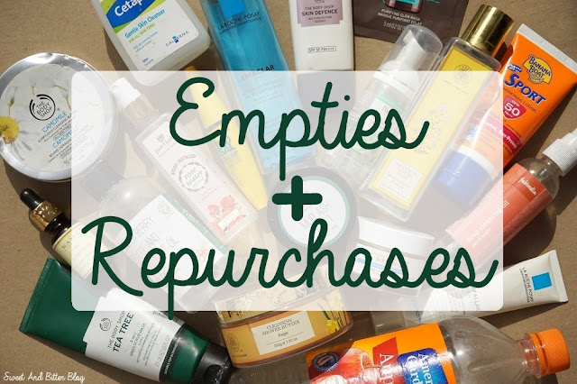 Skincare and Beauty Product Empties and Repurchases