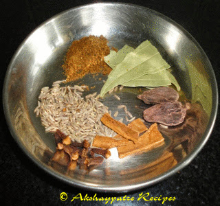 arange the tempering spices on aplate