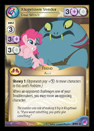 My Little Pony Klugetown Vendor, Deal With It Seaquestria and Beyond CCG Card