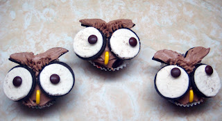 hiboux cupcakes