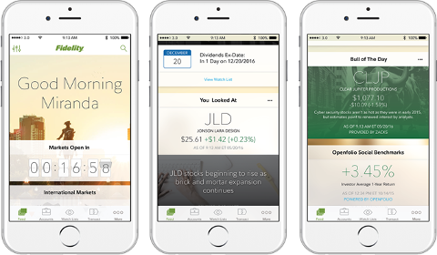 Fidelity Investments sur iPhone