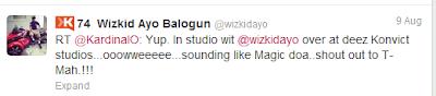 Wizkid Collabos with International Artist Kardinal Official