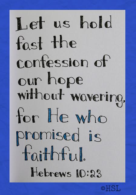 Scripture Writing, Hebrews 10:23