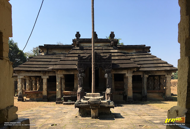 Neminatha Basadi, as seen while entering the temple courtyard through the main entrance porch to the east