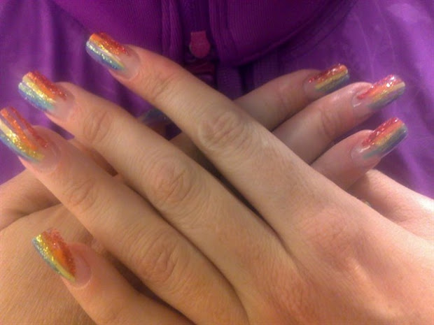 cool and acrylic nails design