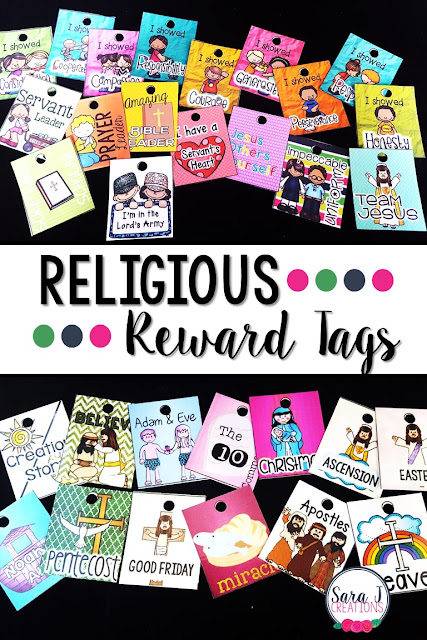 Reward tags are a great classroom management technique that focuses on positive reinforcement.  This Christian reward tag set is perfect for a Christian classroom, VBS, Sunday School or even homeschool.  Comes in color and in black and white!