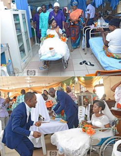 Bride leaves surgical bed