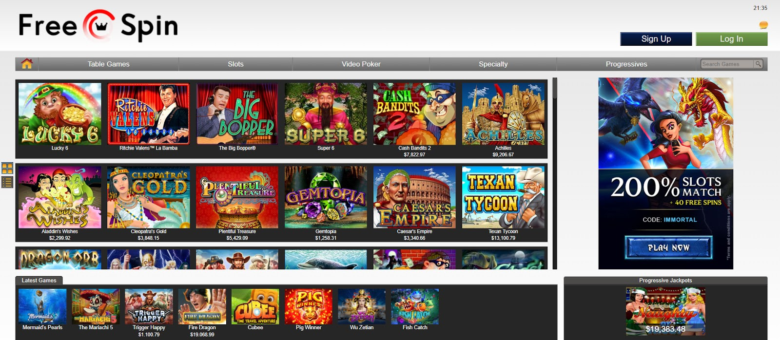Freespin casino