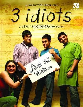 Poster Of 3 Idiots 2009 Hindi 650MB BRRip 720p ESubs HEVC Watch Online Free Download downloadhub.net