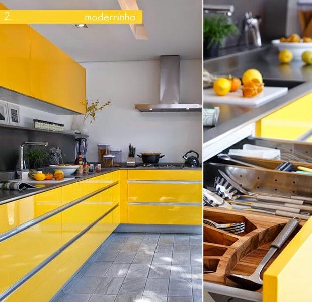 armarios amarelos cozinha