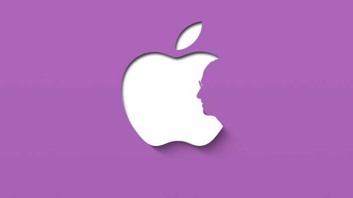 Wallpaper: Stylish minimal design inspired by Apple (Purple Ver.)