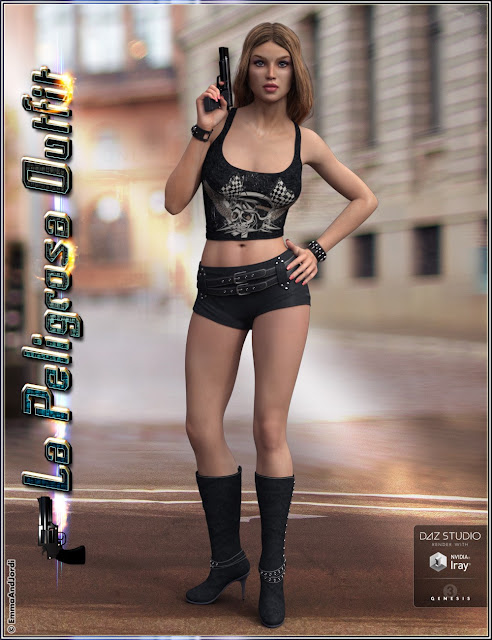La Peligrosa Outfit and Accessories for Genesis 3 Female