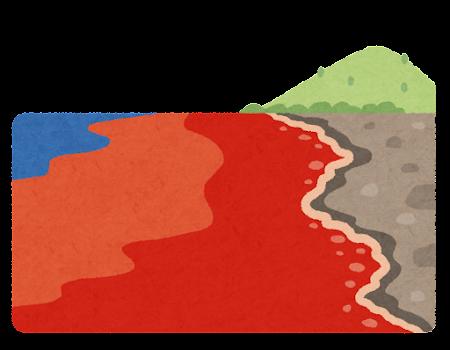 赤潮のイラスト