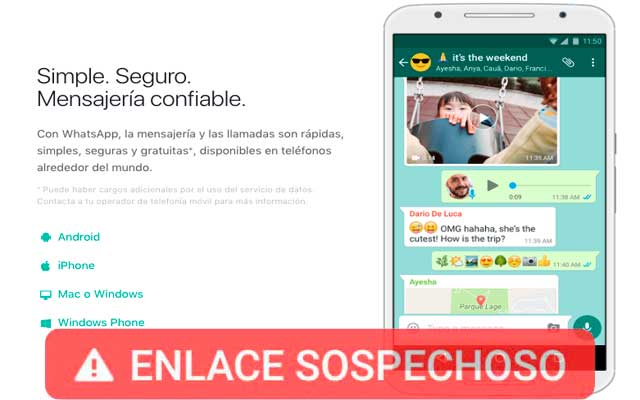 Enlaces Sospechosos Whatsapp
