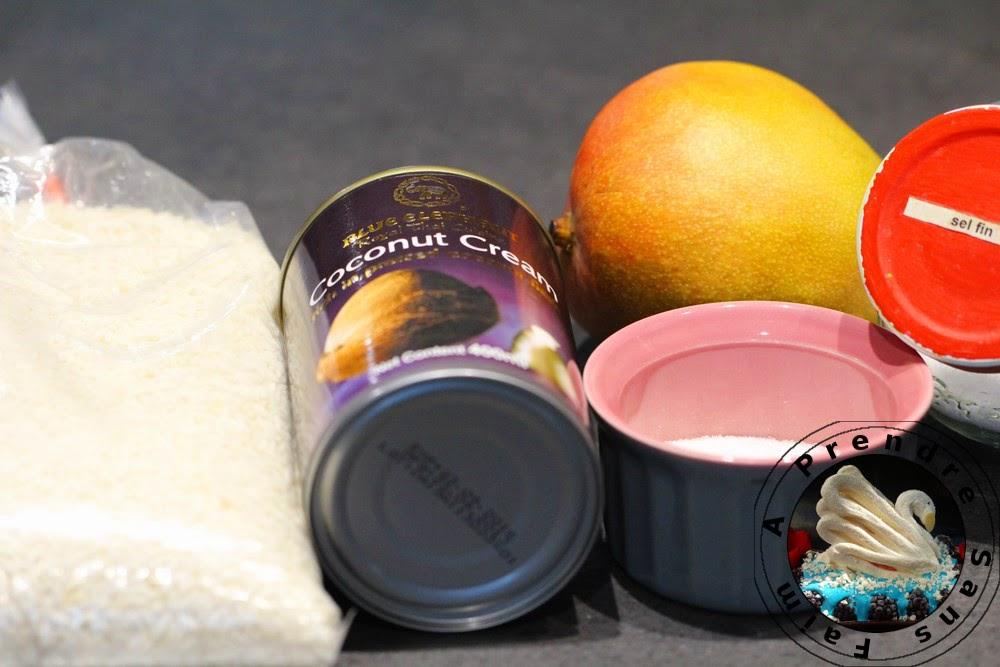 Riz gluant à la mangue (pas à pas en photos)
