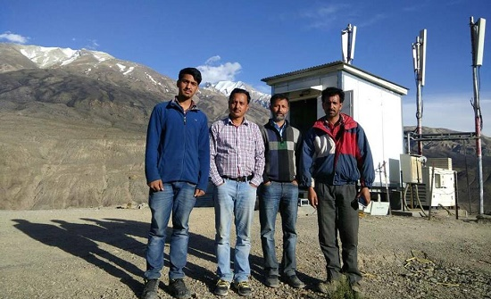 BSNL commissioned a new 3G mobile tower @ 11,500 feet on the Indo-China border to the Indian Army