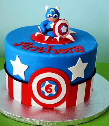 Foto Kue Ulang Tahun Kapten Amerika