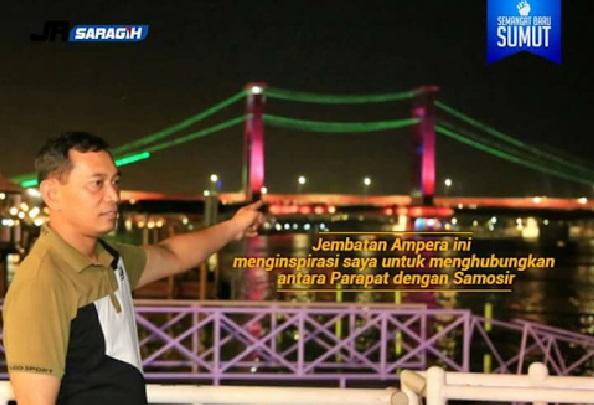 JR. Saragih Impikan Jembatan Penghubung Parapat - Samosir, Ini Kata Warganet