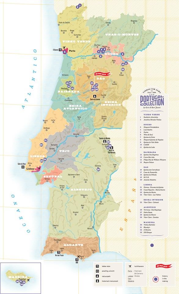 A Palheira Do Ti Ze Bicadas O Mapa Das Regioes De Vinhos Portugueses