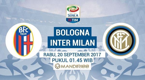 Inter Milan akan menghadapi Bologna pada pekan kelima Serie A Berita Terhangat Prediksi Bola : Bologna Vs Inter Milan , Rabu 20 September 2017 Pukul 01.45 WIB @ JakTV