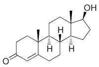 formula estrutura quimica testosterona