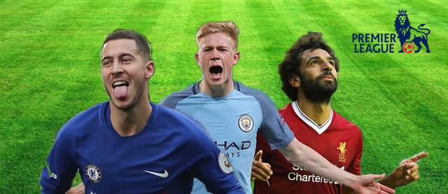 Eden Hazard,Kevin De Bruyne,& Mohamed Salah