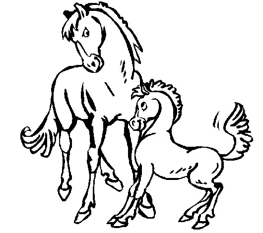 """Caballos"". Dibujos Para Colorear De Animales."