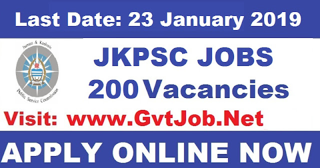 JKPSC Recruitment 2019 200 Posts Know How To Apply