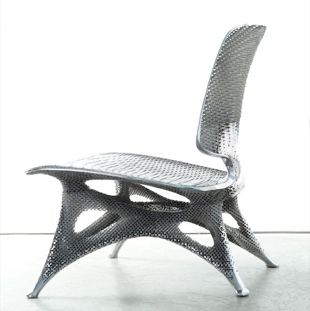 Aluminimum 3D-Printed Chair