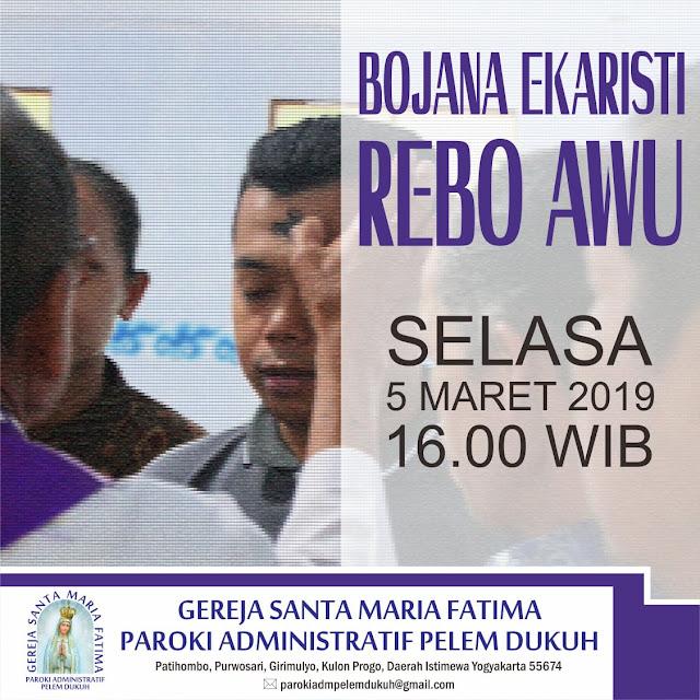 Jadwal Misa Rabu Abu 2019