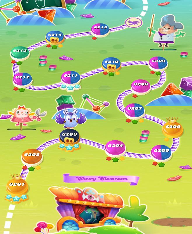 Candy Crush Saga level 6201-6215