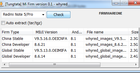 MI FIRMWARE DOWNLOADER BY PMS - FIRMWARE ONE
