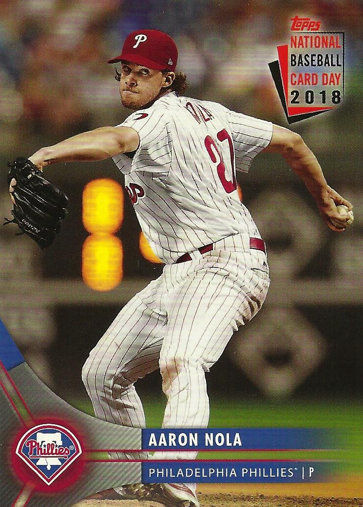 4fa367d3a2b Game 106 - 2018 Topps National Baseball Card Day SGA  PH-5 Aaron Nola