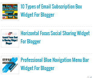 4 Types of Popular Post Widget For Blogger Blog